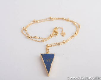 Blue Turquoise Triangle