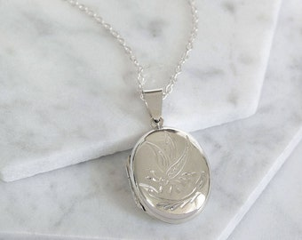 Sterling Silver Dragonfly Locket Necklace