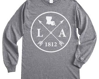 Homeland Tees Louisiana Arrow Long Sleeve Shirt