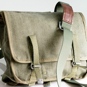 10% OFF Messenger bag military canvas Army bag Military Backpack Vintage army bag Russian or Polish bag army School bag military accessory