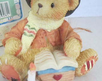 "Vintage Cherished Teddies resin ""Bear Crarchit"" figurine 1994 Enesco 617326"