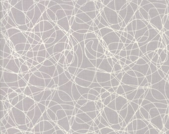 Mixed Bag 2017 Tangles fabric in Sidewalk Gray  by Studio M for Moda Fabric #33204-22