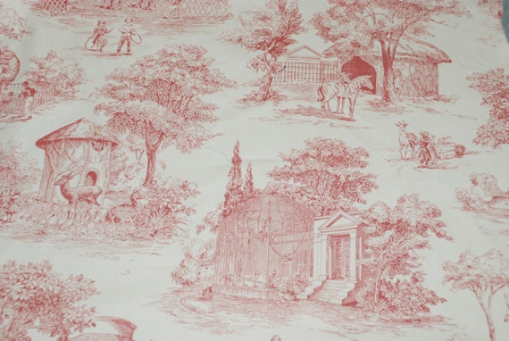 Zookeeper Toile Fabric Home Decor Fabric By The Yard