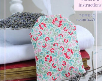 Lavender Bag Sewing Pattern and Instructions | Sew Your Own Home Decor | Easy Lavender Sachet | Make Your Own | Beginner Sewing Pattern