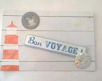 Sea - bon voyage theme card
