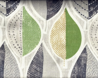 Leaves Green Gray Curtain Valance