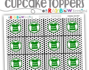 CT-802: DIY - Soccer Cupcake Toppers - Instant Downloadable File