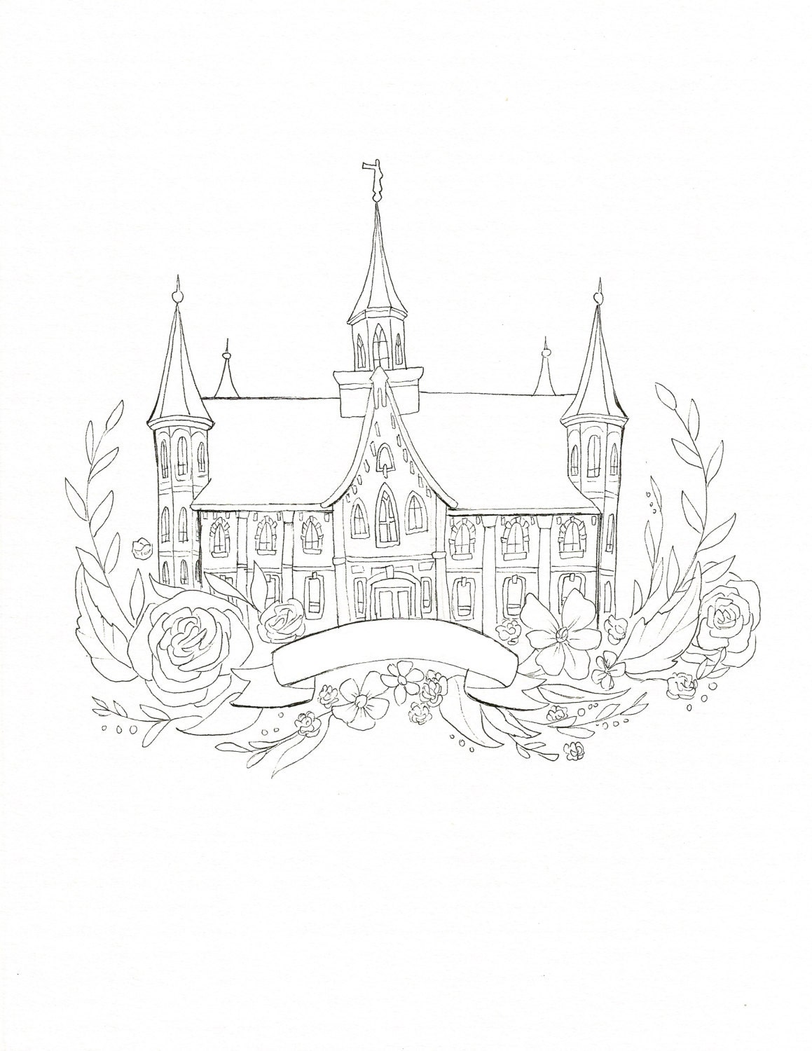 Coloring Book Lds Temples - Worksheet & Coloring Pages