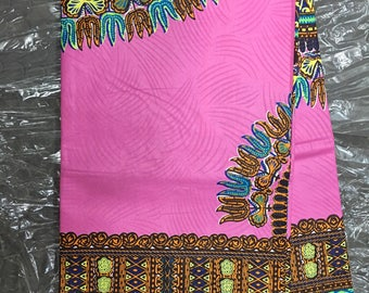 Pink Dashiki Fabric 6 yards