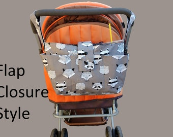 wheelchair bag organiser-stylish pram caddy / stroller organiser /should bag/double caddy/ pram bag -Grey foxes