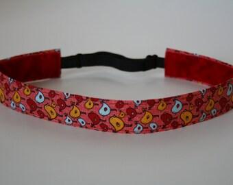 Pink Birdies Non-Slip Adjustable Headband