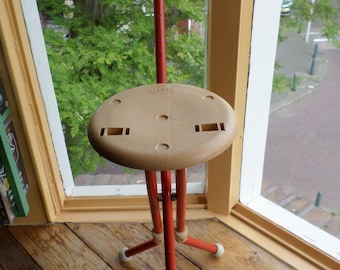 Italian Ulisse stool / walking stick by Ivan Loss for Sandrigarden 1981