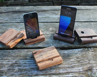 Smartphone Stand, iPhone Stand, Wooden iPhone Stand, Handmade iPhone Stand, Rustic iPhone Stand, Gift Ideas, Docking Station, ChristmasGift