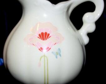 70's Takahashi San Francisco Porcelain Floral Creamer Japan