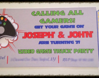 Video Game Invitations