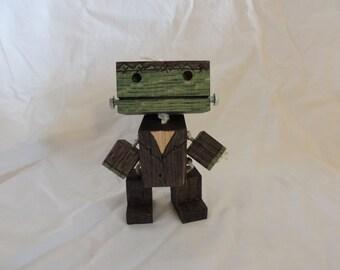 Wooden Frankenstein Robot