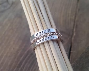 Personalized Rings Name Rings Mothers Stacking Name Rings Mothers Rings Sterling Silver / Personalized Ring / Custom Name Ring