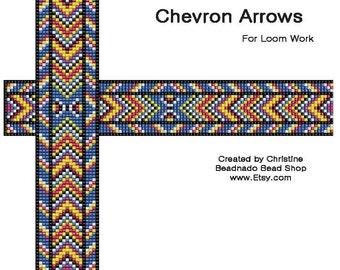 Chevron Arrows Bead Loom Pattern