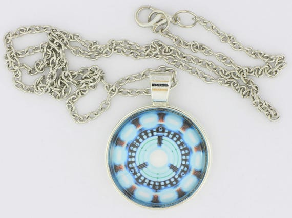 Ironman arc reactor necklace or keychain tony stark comic book aloadofball Image collections