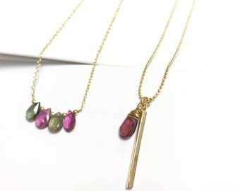 Apsel necklaces. Apsel necklaces. Daily inspiration.  Tourmaline Gift. Minialism necklace.