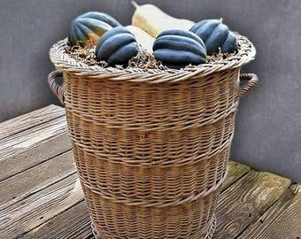 Vintage Vegetable Harvest Storage Basket