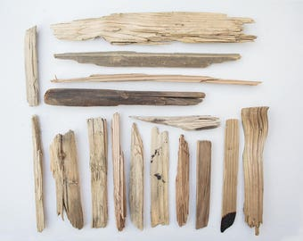 16x DRIFT WOOD PIECES, surf tumbled, ocean worn, reclaimed wood, salvage, craft supplies, wooden offcuts, natural raw materials, whittling