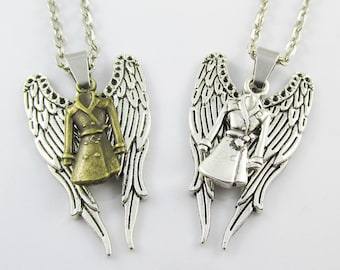 Supernatural Inspired Angel Castiel Charm Pendant Necklace 45cm Select colour
