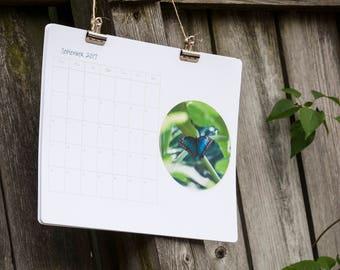 Wall Calendar 2018 - Butterfly - 2018-2019 Calendar with Butterflies