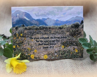 3D Note Card with Hand Painted Accents, Photo Card, Blank Greeting Card, Scripture Card