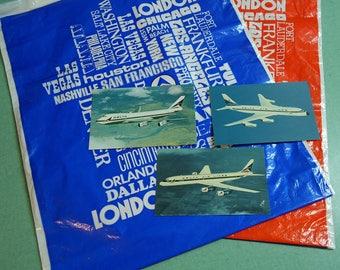 Vintage Delta Airlines Bag, Vintage Delta Airlines Postcards, Vintage Delta Airlines Collectibles