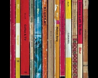 Blur '13' Album As Books Poster Print, Literary Print, Penguin Books, Damon Albarn Music Poster, Home Decor, Tender, Coffee And TV