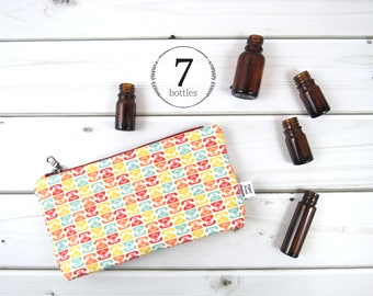Essential Oil Case - Vintage Telephone - phone cosmetic bag zipper pouch essential oil bag