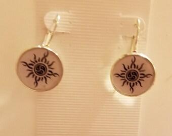 BDSM Sun Symbol Earrings