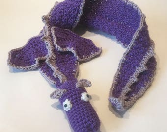 Child's scarf: Purple Draggle (3 - 8 yr old)