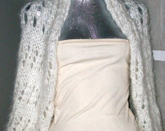 SWEATER WOMAN KNITTED Shrug Woman Bride White  Women  Brides  Gift  Girls  Teens Scarf Cowl