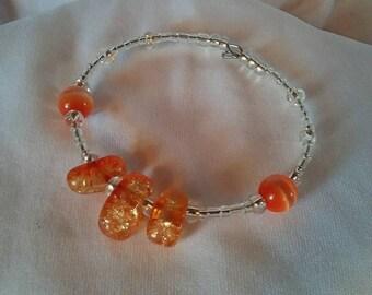 Orange Citrine Clutch Bracelet