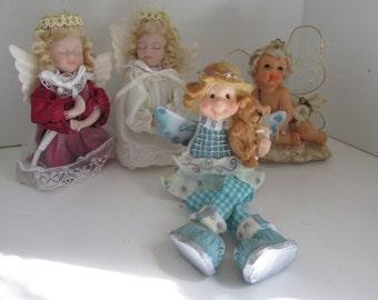 Grouping of Angels Angel Ornaments  Angel Decor  Angel Figurines