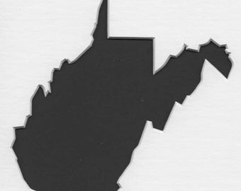 Pack of 3 West Virginia State Stencils Made From 4 Ply Mat Board 11x14, 8x10 and 5x7 -Package includes One of Each Size