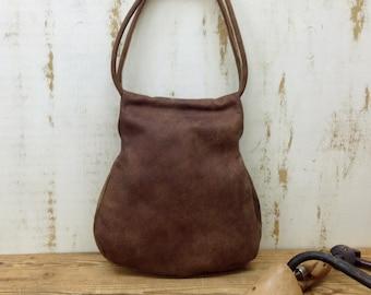 Sale!!! DISTRESSED Brown Leather bag soft Leather Hobo Bag Medium leather tote bag leather sack bag