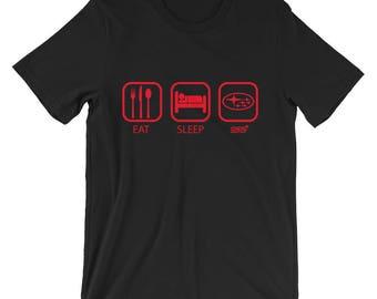 EAT SLEEP STI Subaru Unisex short sleeve t-shirt S-2XL