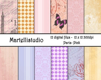 Paris Pink Digital Paper