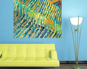 Abstract wall art, Vineyards, Vineyard art, Modern vineyard art, Impressionistic, Johno Prascak, Johnos Art Studio