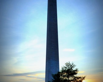 Wall Art Canvas Decor Washington Monument Sunset