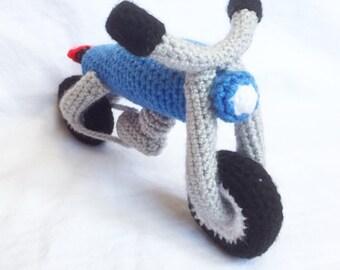 Motorbike Crochet Pattern, Amigurumi, DIY, PDF tutorial