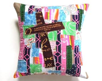 Religious Art Decor, Christian Cross Pillow