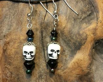 Skull Facets Earrings