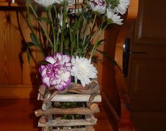 Drift wood vase