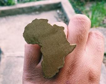 Gold Wood Africa Adjustable Ring