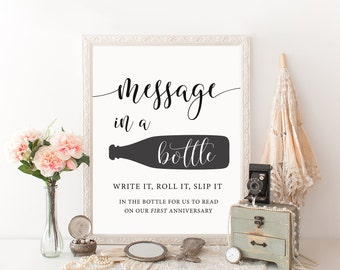 Message in a bottle sign | Etsy