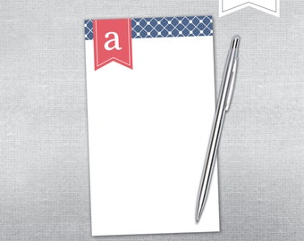 Boland Design Paper Co. Personalized Notepad. Initial and swag notepad.